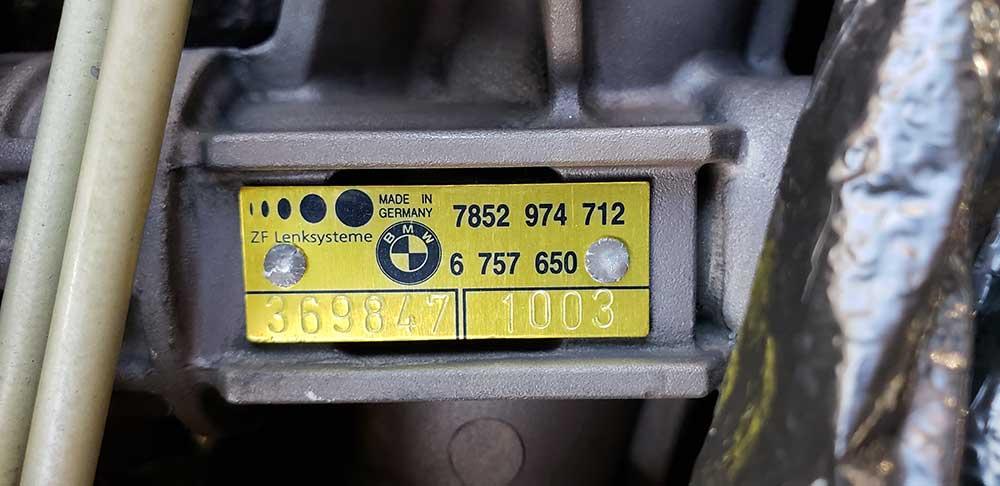 BMW ZHP Steering Rack
